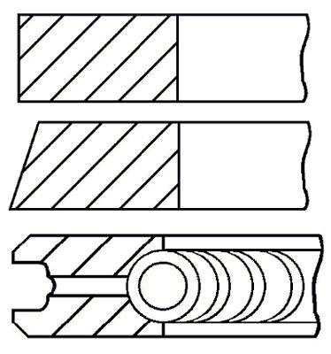 Комплект поршневых колец GOETZE ENGINE 08-783507-00
