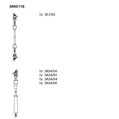 Комплект проводов зажигания BREMI 3A00/118