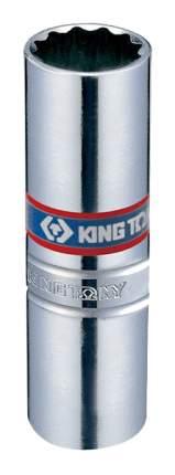 """KING TONY Головка свечная двенадцатигранная 3/8"""", 14 мм, пружинный фиксатор 36A014"""