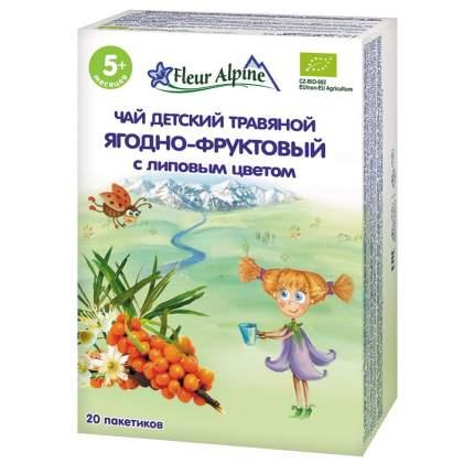 Чай травяной Fleur Alpine Органик Ягодно-фруктовый с липовым цветом, 5 мес., 30/8