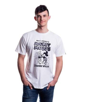 Мужская футболка Disney Mickey Steamboat Willie (Размер S)