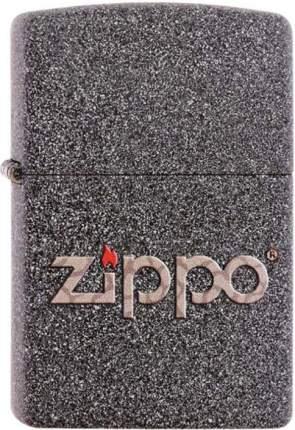 Бензиновая зажигалка Zippo №211 Snakeskin Zippo Logo Iron Stone