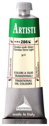 Масляная краска Maimeri Artisti киноварь зеленая светлая 40 мл