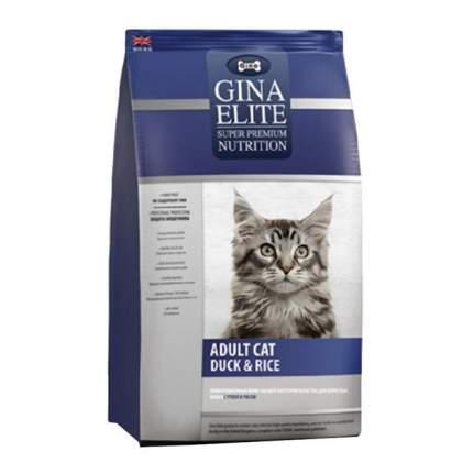 Сухой корм для кошек Gina Elite, утка, рис, 15кг