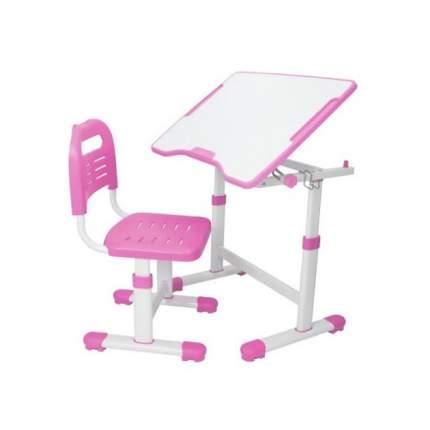 Комплект парта и стул трансформеры Fundesk Sole 2 розовый, белый,
