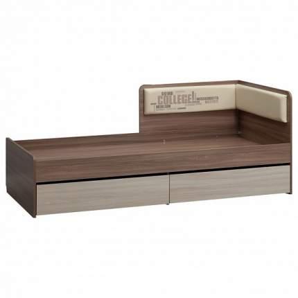 Кровать Mebelson Колледж МКК-004 80х190 см, коричневый/бежевый