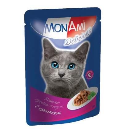 Влажный корм для кошек MonAmi Delicious, кролик в соусе, 85г