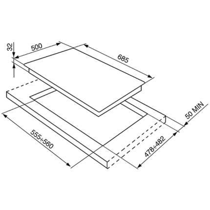 Встраиваемая газовая панель независимая SMEG SR975BGH