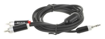 Кабель Belkin 2RCA - Jack 3.5, 2м Black (AV10066QP2M)