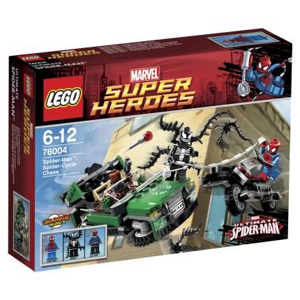Конструктор LEGO Super Heroes Человек-Паук: Погоня на спайдерцикле (76004)