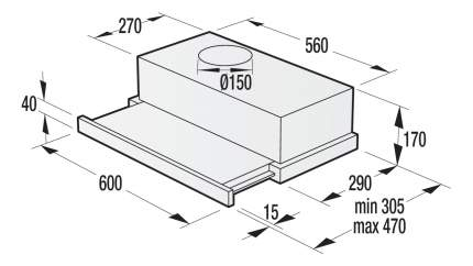 Вытяжка встраиваемая Gorenje BHP623E11W Silver/White