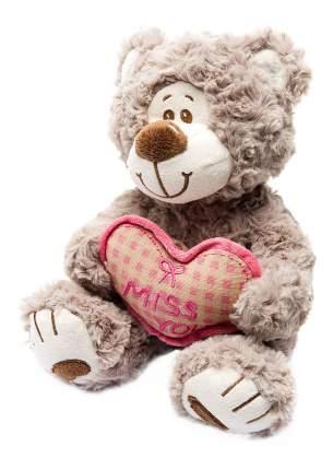 Мягкая игрушка Fluffy Family Мишка Митя с сердцем беж, 23 см