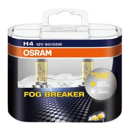 Лампа галогенная автомобильная OSRAM Fog Breaker H4 12В 60/55Вт (62193FBR DuoBox)