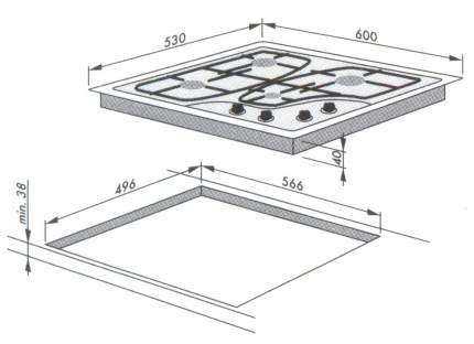 Встраиваемая варочная панель комбинированная Hansa BHMI 65110010 Silver