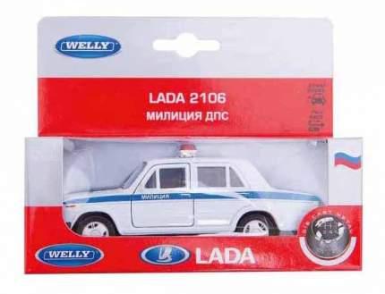Модель машины Welly 42381PB 1:34-39 LADA 2106 Милиция ДПС