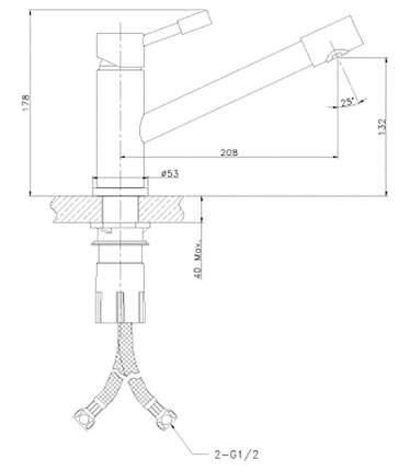 Смеситель для кухонной мойки LEMARK Expert LM5072S матовый