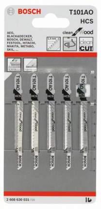Набор пилок для лобзика Bosch T 101 AО, HCS 2608630031
