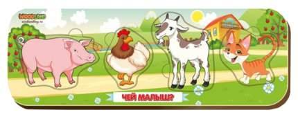 Игрушка Сибирский сувенир Кто что ест? 11904 свинья-петух-козел-кот