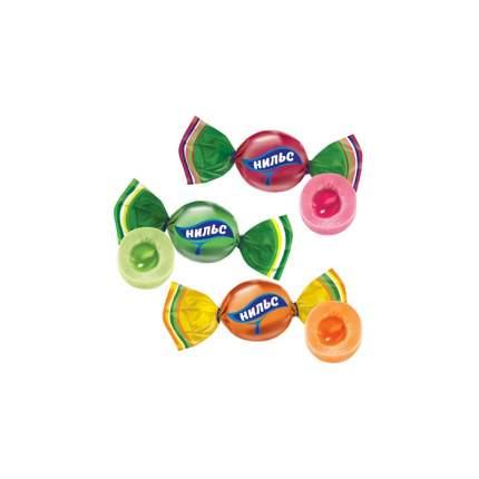 Карамель Нильс жевательная с фруктово-ягодной начинкой 500 г