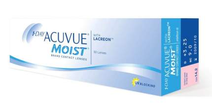 Контактные линзы 1-Day Acuvue Moist 30 линз R 9,0 -10,50