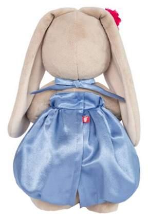 Мягкая игрушка BUDI BASA Зайка Ми в синем платье с розовым бантиком, 18 см