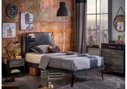 Кровать Cilek Dark Metal 100х200 см, черный