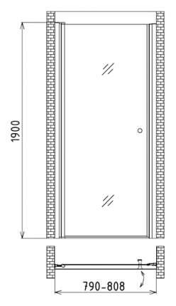 Душевая дверь gemy new rockcoco s03190a