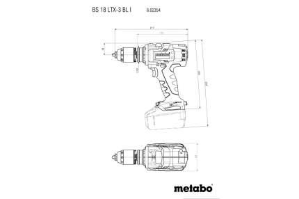 Аккумуляторная безударная дрель-шуруповерт Metabo 602354890