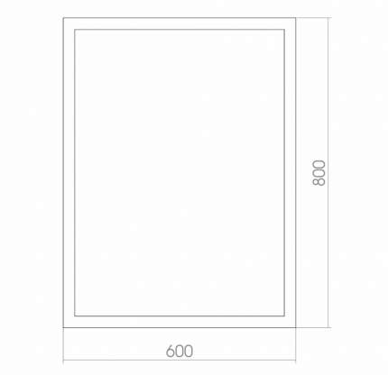 Зеркало MIXLINE Серенити 600*800 тоннельная подстветка, багетная рама