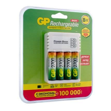 Зарядное устройство GP + аккумуляторы АА (HR6) 2700 мАч,  4 шт