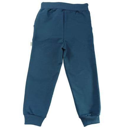 Штаны Папитто Индиго футер с карманами, на манжетах, размер 110