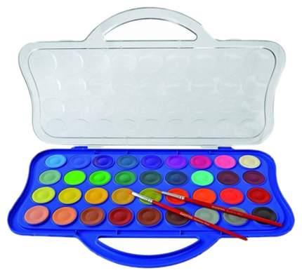 Акварель Giotto Colour Blocks Mini сухая в таблетках 36 цветов+2 кисти