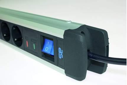 Сетевой фильтр SCHWABE ALUX 10 розеток 1,5 метра кабель 3х1,5 230В 16 A 3500Вт 18360 AS
