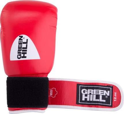 Перчатки боксерские Green Hill GYM BGG-2018, 10oz, кожа, красные