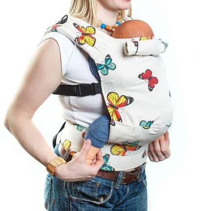 Эргономичный рюкзак SlingMe Летний Эко серия Лен