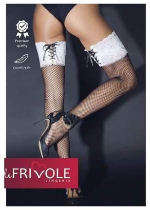 Чулки Le Frivole с широкой резинкой на шнуровке
