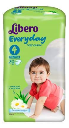 Подгузники Libero Everyday Size 4 (7-18кг), 20 шт.