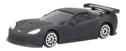 Машина Uni-Fortune 1:64 Chevrolet Corvette C6R без механизмов черный матовый
