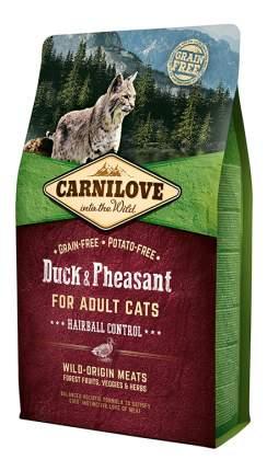 Сухой корм для кошек Carnilove Hairball Control, для выведения шерсти, утка, фазан, 2кг