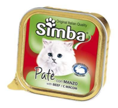 Консервы для кошек Simba, мясо, 32шт, 100г