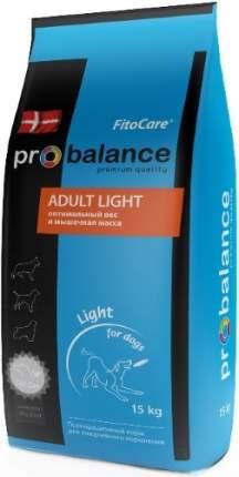 Корм для собак PROBALANCE Adult Light 15 кг