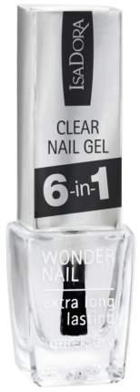Средство для ухода за ногтями IsaDora Clear Nail Gel 6-in-1 универсальное 6 мл