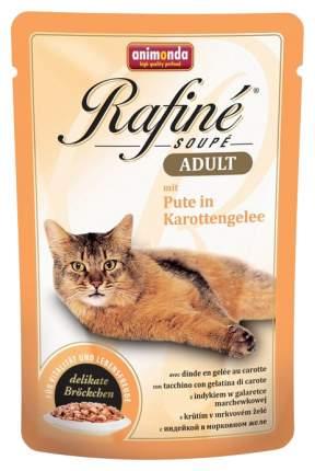 Влажный корм для кошек Animonda Rafine Soupe Adult, индейка в морковном желе, 100г