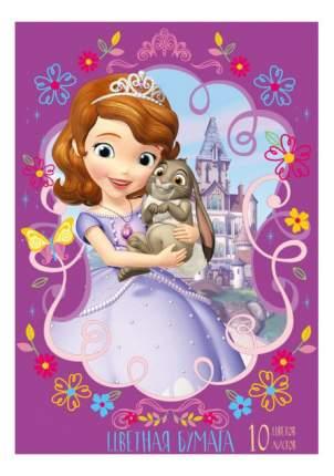 Бумага для рисования Disney. София Прекрасная 2-сторонняя 10 цветов