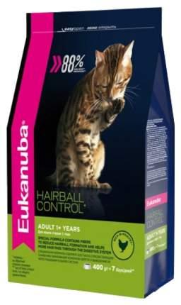 Сухой корм для кошек Eukanuba Hairball Control, для выведения шерсти, курица, 0,4кг