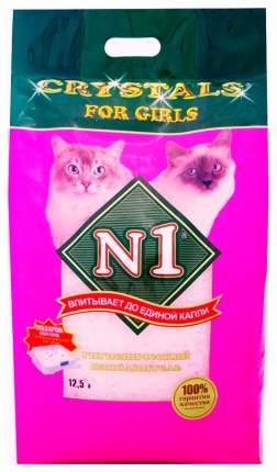 Наполнитель N1 Crystals For Girls силикагелевый 12.5 л 6 кг без запаха