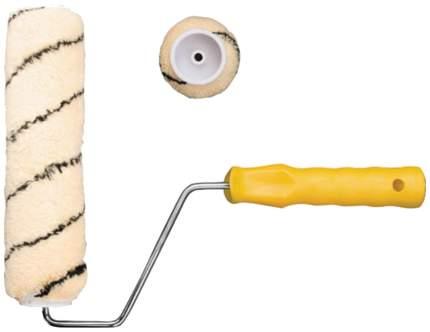 Валик полиакриловый, бежевый с черной полоской, диам, 40/61 мм; ворс 10,4 мм, 180 мм 01853