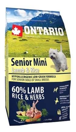 Сухой корм для собак Ontario Senior Mini, ягненок, 6.5кг
