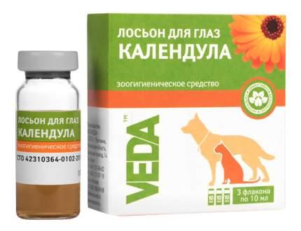Лосьон для очищения глаз кошек и собак VEDA Календула, 3 флакона по 10 мл
