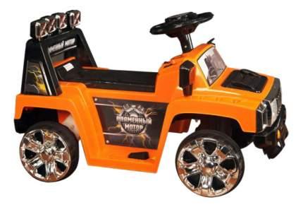 Электромобиль Пламенный мотор Джип оранжевый
